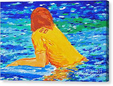 One With The Sea Canvas Print by Art Mantia