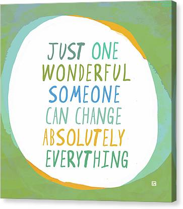 Canvas Print featuring the painting One Wonderful Someone by Lisa Weedn