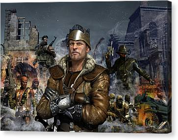 Armor Canvas Print - One World One King by Kurt Miller