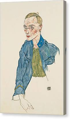 Expressionism Canvas Print - One-year Volunteer Lance-corporal by Egon Schiele