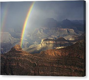 O'neill Butte Rainbow Canvas Print by Mike Buchheit