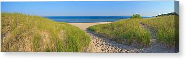 Onekama Michigan Beach Canvas Print by Twenty Two North Photography
