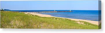 Onekama Michigan Panorama Canvas Print by Twenty Two North Photography