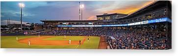 Oneok Stadium Panoramic - Tulsa Drillers - Tulsa Oklahoma Canvas Print by Gregory Ballos