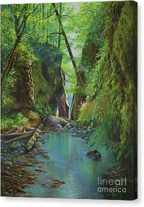 Oneonta Gorge Canvas Print by Jeanette French