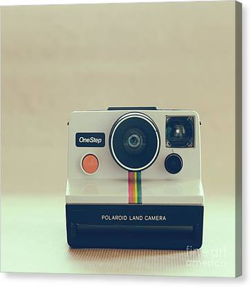 Canvas Print featuring the photograph Onestep Polaroid by Ana V Ramirez
