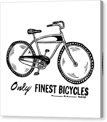 Only Finest Bicycles Canvas Print by Karl Addison