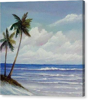 Only In Miami Beach Canvas Print by Rosie Brown