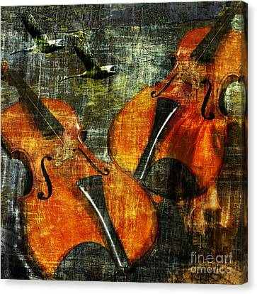 Canvas Print featuring the photograph Only Music Heals A Broken Heart by LemonArt Photography
