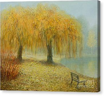 Weeping Willow Canvas Print - Only The Two Of Us by Kiril Stanchev