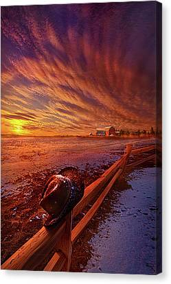 Canvas Print featuring the photograph Only This Moment In Between Before And After by Phil Koch