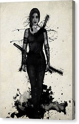 Onna Bugeisha Canvas Print by Nicklas Gustafsson