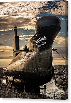 Tracy Munson Canvas Print - Onondaga Submarine by Tracy Munson