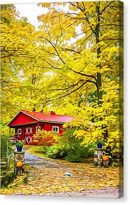 Ontario Autumn - Paint Canvas Print by Steve Harrington