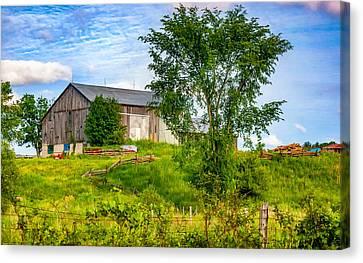 Ontario Barn 2 Canvas Print by Steve Harrington
