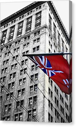 Ontario Flag Canvas Print by Valentino Visentini