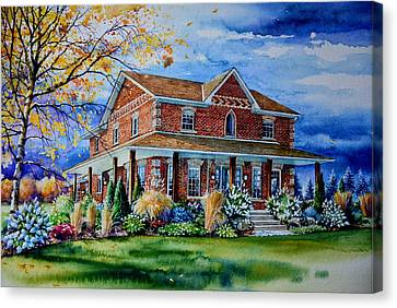 Ontario House Portrait  Canvas Print by Hanne Lore Koehler