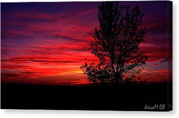 Canvas Print featuring the photograph Ontario Sunset 6013 by Maciek Froncisz
