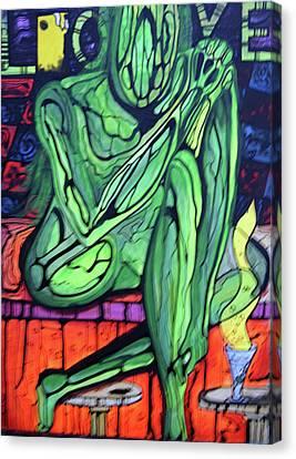 Onthebar Canvas Print by Ottoniel Lima