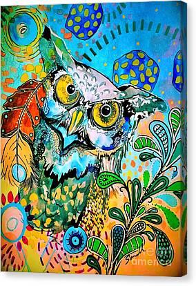 Oogke Owl Canvas Print by Amy Sorrell
