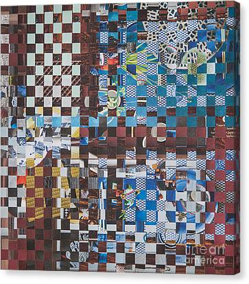 Canvas Print featuring the mixed media Op Art 102 by Jan Bickerton