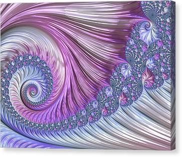 Canvas Print featuring the digital art Opal Nautilus by Susan Maxwell Schmidt