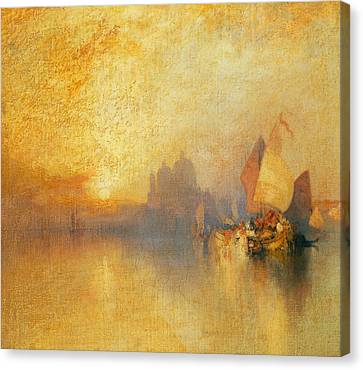 Opalescent Venice Canvas Print by Thomas Moran