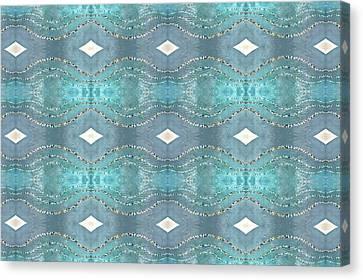Canvas Print featuring the digital art Opalescent Wave Design by Ellen Barron O'Reilly