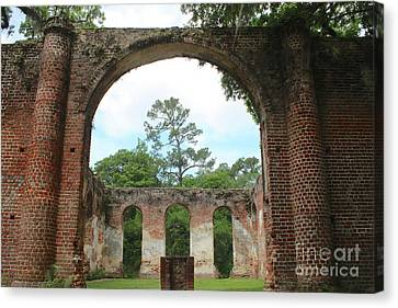 Civil War Site Canvas Print - Open Air Church by Carol Groenen