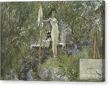 Open Air Studio Canvas Print by Carl Larsson