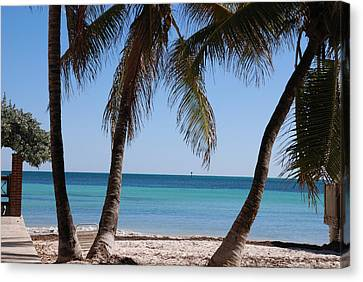 Turquois Water Canvas Print - Open Beach View by Susanne Van Hulst