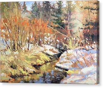Open Creek Canvas Print by Larry Seiler
