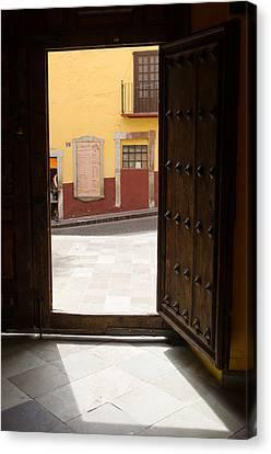 Open Door Looking Out Canvas Print by Rob Huntley