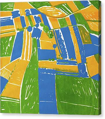 Open Field Yellow Canvas Print by Toni Silber-Delerive