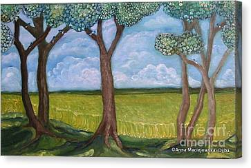 Open Fields Canvas Print by Anna Folkartanna Maciejewska-Dyba