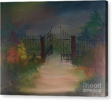 Canvas Print featuring the painting Open Gate by Denise Tomasura