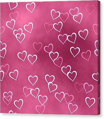 Open Hearted Design Canvas Print