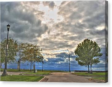 Canvas Print featuring the photograph Open Heavens  by Michael Frank Jr