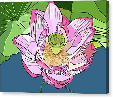 Open Lotus Canvas Print by Jamie Downs