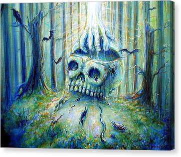 Canvas Print featuring the painting Open Mind by Heather Calderon