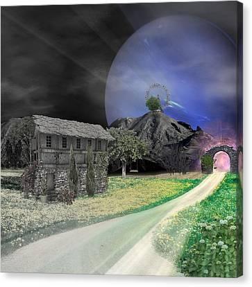 Open Portal Canvas Print by Ally  White