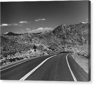Open Road - Nevada Canvas Print by Ann Tracy