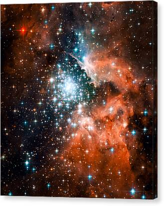 Open Star Cluster And Nebula Ngc 3603 Canvas Print by Space Art Pictures