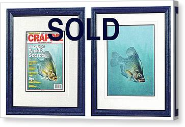 Open Water Crappie Canvas Print