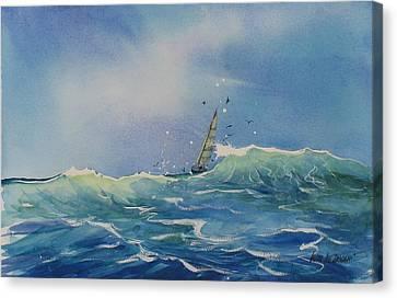 Open Waters Canvas Print by Laura Lee Zanghetti