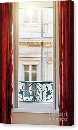Open Window In Toulouse Canvas Print by Elena Elisseeva