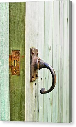 Open Wooden Door Canvas Print by Tom Gowanlock