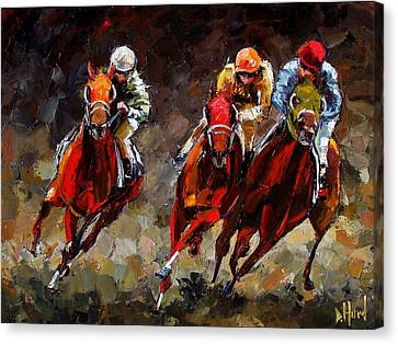 Horse Art Canvas Print - Opening Day by Debra Hurd