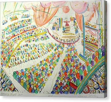 Opening Night Canvas Print by Bonnie Wilber
