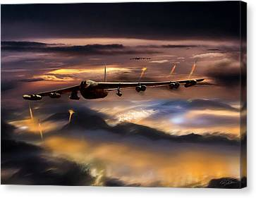 Night Sky Canvas Print - Opening Night Reprise by Peter Chilelli